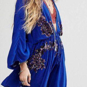 Free People cobalt blue Pretty Pineapple dress